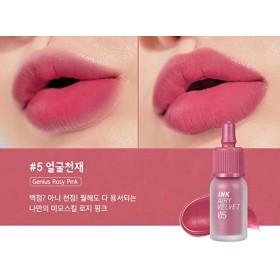 [Peripera] Ink Airy Velvet (AD) / [ペリペラ] インクザエアリーベルベット(AD) (# 5 Genius Rosy Pink) [並行輸入品]