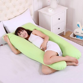 妊娠の枕 ストレス リリーフ,完全なボディ マタニティ抱き枕 母性の痛みを和らげる 看護 U 字型-F 140x80cm(55x31inch)