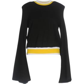 《セール開催中》ELLERY レディース スウェットシャツ ブラック 8 コットン 100% / ポリエステル