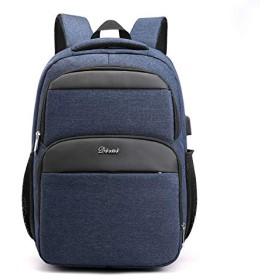 2019スクールバックパック、USB充電ポート付きマルチポケットオックスフォード布学生リュックサック、A4紙15.6インチビジネスラップトップバッグを