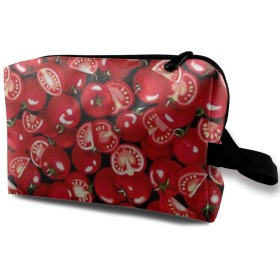 化粧ポーチ 赤いトマト 収納ポーチ 化粧バッグ 多機能ポーチ 大容量 小物入れ 軽量 出張 旅行用品 バスルームポーチ トラベルポーチ 防水仕様 洗面用具 男女兼用