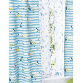 [ベルメゾン] ディズニー カーテン 4枚 セット 遮光 UVカット ミラー レースカーテン 洗える ドナルドダック 約100×178(4枚)