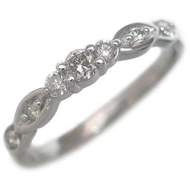 (4月誕生石) K18ホワイトゴールド ダイヤモンドリング #8