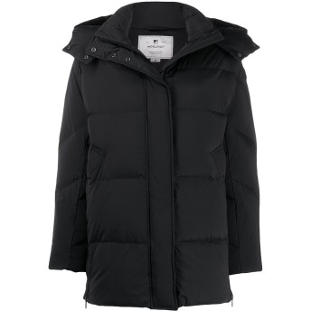 Woolrich パデッド パーカーコート - ブラック