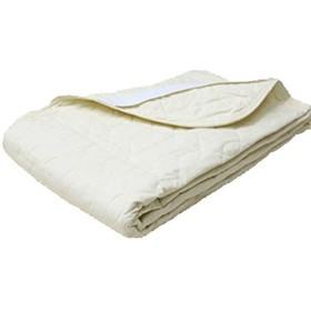 シングル 京都西川 綿100% なめらかコットン敷きパッド (5CP051) (アイボリー) 綿平織