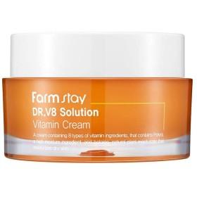 ファームステイ[Farm Stay] Dr.V8 ソリューションビタミンクリーム 50ml / Vitamin Cream (美白&しわ防止)