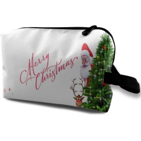 クリスマス ポーチ 旅行 化粧ポーチ 防水 収納ポーチ コスメポーチ 軽量 トラベルポーチ25cm×16cm×12cm