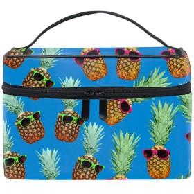 レディースパイナップル 小物入れケース 化粧ポーチ 小物用収納ポーチ 化粧品収納袋