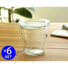 ウェック(WECK) モールドシェイプ WE900 ガラスキャニスター 290ml 直径Mサイズ 6個セット 【並行輸入品】