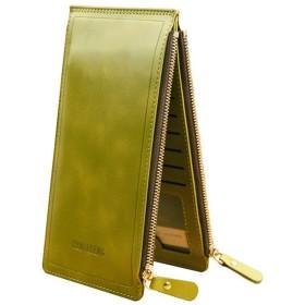 BOBIDYEE 女性の財布マルチカード財布超薄型デュアルジップバックルデュアル財布カードホルダーファッション (色 : オレンジ)