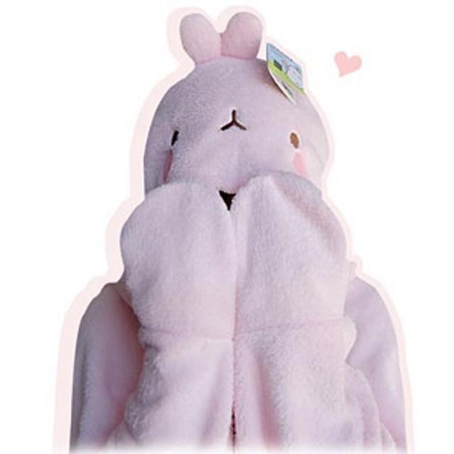 キャラクターグッズ MOLANG(モルラン) マント 毛布 ブランケット(2種1択) NURI011