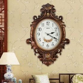 クォーツ時計、ヴィンテージエンボスファッション装飾ミュートウォールクロック AnyzhanTrade (Color : A, サイズ : 20inch)