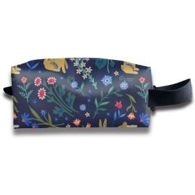 花の中のイースターのウサギ 化粧ポーチ メイクポーチ ミニ 財布 機能的 大容量 アイシャドー 化粧品収納 小物入れ 普段使い 出張 旅行 メイク ブラシ バッグ ポータブル 化粧バッグ