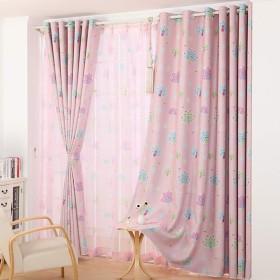 カーテン窓カーテンガーゼベッドルーム陰干し布プリーツブラインド遮光カーテン、リビングルームバルコニー寝室装飾窓 (色 : B, サイズ さいず : 2W2.5H2.7M)