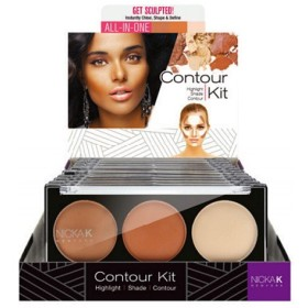 NICKA K Contour Kit Display Case Set 12 Pieces - CK02 (並行輸入品)
