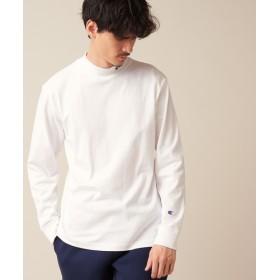 Discoat(ディスコート) メンズ 【WEB限定】Champion/チャンピオン モックネックロングスリーブTシャツ ホワイト