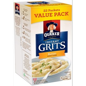 クエーカーバターインスタント粗粒 22-0.98 オンスパケット Butter Instant Grits 22-0.98 oz. Packets