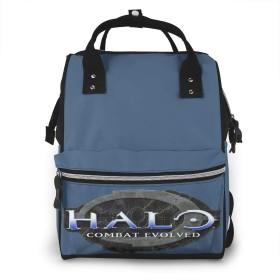 ママバッグ マザーズバッグ リュック 大容量 多機能 おしゃれ 軽い 盗難防止 クッション性あり、クッション性抜群 持ち運びやすい 撥水加工 耐久 赤ちゃん用品収納 満月お祝い ママリュック Halo Logo