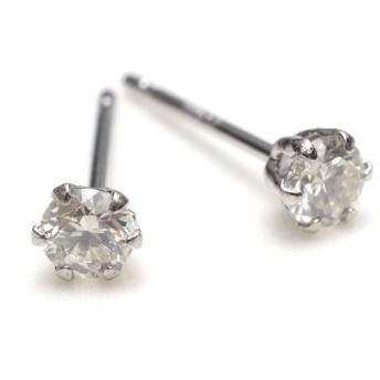 A.UN jewelry ダイヤモンド ピアス 0.2ct ほぼ無色 HIカラー SI1/2 Good Pt900 4月 誕生石 ギフトBOX 手提げ袋付き【ダイヤモンド】