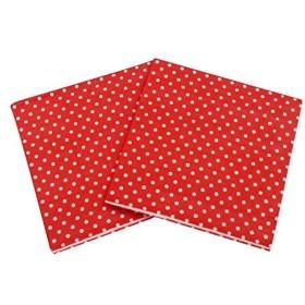 WallyE Circus Carnival Birthday Party Supplies, Red Polka Dot Paper Napkins,20 Pack