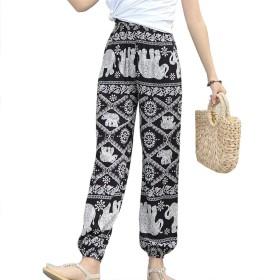 レディースカジュアルパンツ、エスニックウィンドビーチパンツファッションHarlanブルマ,C,L