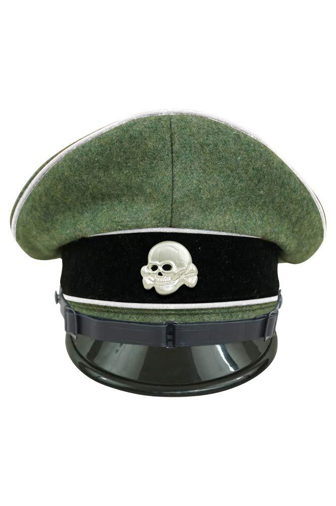 歩兵 第二次世界大戦 ウール材料-56 武装したエリート将校用クラッシュキャップ ドイツ軍