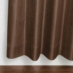 【窓美人】【半間用】シンプル、なのにオシャレ!色にこだわって作ったバリエーション豊富な8色展開!ドットストライプ柄ドレープカーテン 【ステップLight 幅100x丈190cm ブラウン ※半間用 1枚入り】