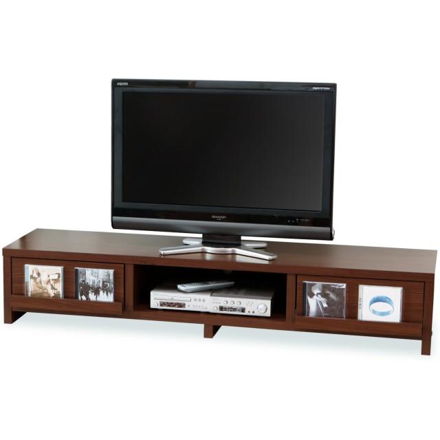 LOWYA TVボード テレビ台 TV台 おしゃれ 50型 幅150cm スクエア脚 ウォルナット