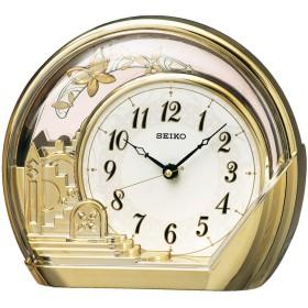 セイコークロック(Seiko Clock) 置き時計 金色光沢 本体サイズ:18.4×21.2×7.5cm アナログ 飾り振り子 PW428G