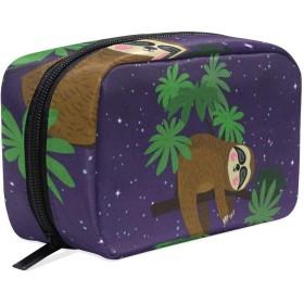ナマケモノ 樹懶 化粧ポーチ メイクポーチ 機能的 大容量 化粧品収納 小物入れ 普段使い 出張 旅行 メイク ブラシ バッグ 化粧バッグ