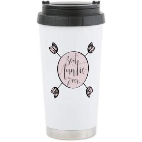 CafePress–Best Aunt Ever旅行マグ–ステンレス鋼旅行マグ、断熱16オンスコーヒータンブラー