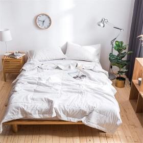 掛け布団 シングル オーガニックコットン洗いざらしの綿100% チェック 薄い布団 抗菌 防臭