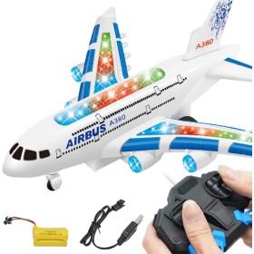 ACHICOO RC飛行機 A380 エアバスおもちゃ ミュージックライト付き 大型 電気 リモートコントロール ギフト