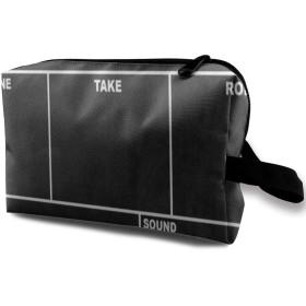 クラシック映画羽目板黒 ポーチ 旅行 化粧ポーチ 防水 収納ポーチ コスメポーチ 軽量 トラベルポーチ25cm×16cm×12cm