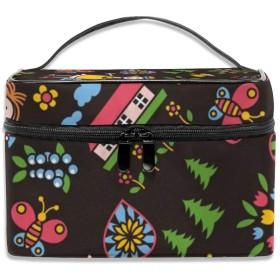 女の子 化粧ポーチ メイクポーチ コスメバッグ 収納 雑貨大容量 小物入れ 旅行用