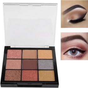 適用 容易 9つ 色 きらめきのマットのアイシャドウパレット、アイシャドウの化粧品の粉(02#)