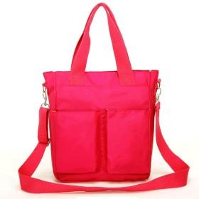 大容量のミイラバッグ、女性のハンドバッグ、母親と子供のパッケージ斜めの多機能のマザーバッグの赤ちゃん(ピンク)