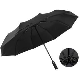 【強化版】折りたたみ傘頑丈な10本傘骨 折り畳み傘加工 高強度グラスファイバー 梅雨対策 晴雨兼用 日傘 UVカット 紫外線遮蔽率99% 105cm 軽量楽々 耐風撥水 持ち運び便利 収納ポーチ付き ブラック