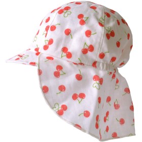 [カジュアルボックス] ベビー帽子 UVカット SARA コットン バオバブ キャップ 日本製 Sサイズ さくらんぼ