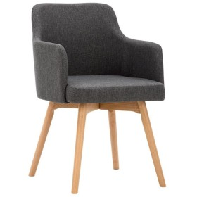 ダイニングチェア チェア Chair ッション シンプルなソリッドウッドのフラックスコーヒーショップレストランSoft Case armrest Negotiate訪問カジュアル TINGTING (色 : Gray)