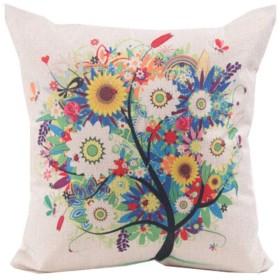 KEHUITONG ゲイXuexuan枕、漫画のリネン枕、ソファのクッション、ベッドサイドの枕、ベッドサイドウエスト、車のランバークッション、腰椎の枕、家族に最高の贈り物を送るための高品質 高品質 - 最高の贈り物 (Color : Sun Flower Tree)