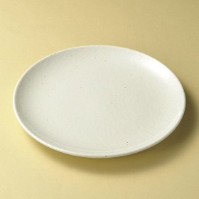 美濃粉引白26cm皿 [26 x 2.8cm 664g] 【丸皿】 | 料亭 旅館 和食器 飲食店 おしゃれ 食器 業務用