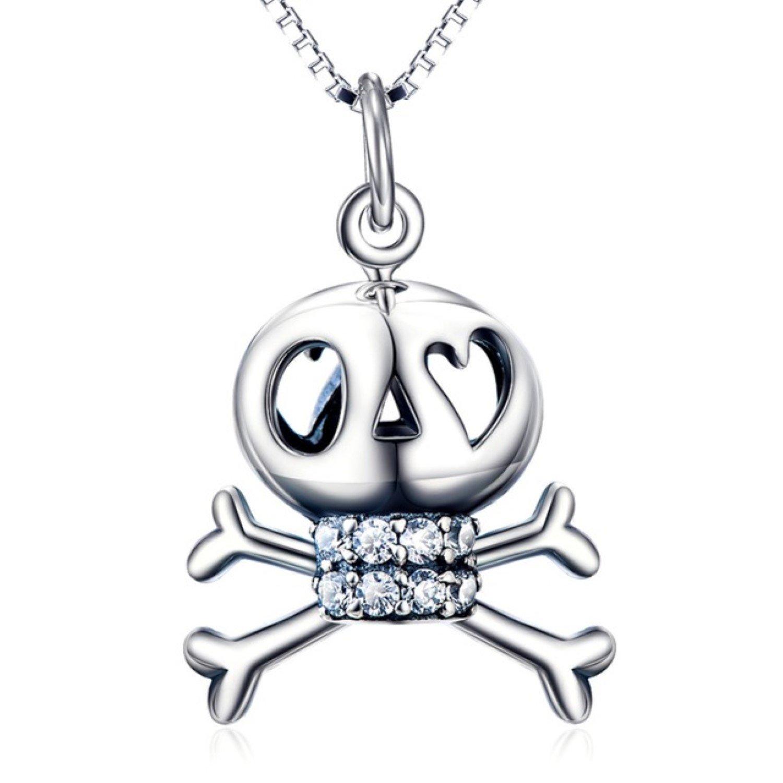 CS-DB Punk Style Skull Pendants Silver Necklaces
