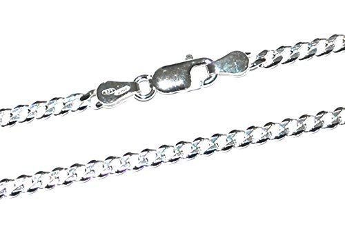 GENUINE SOLID 925 STERLING SILVER OPEN CURB LINK CHAIN NECKLACE 1.5mm Gauge 20inch