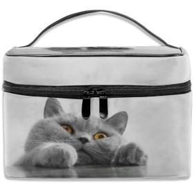 化粧ポーチ猫 顔 メイクポーチ コスメバッグ 収納 雑貨大容量 小物入れ 旅行用