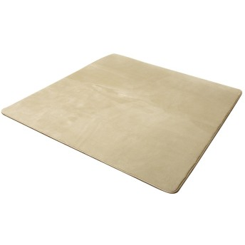 イケヒコ ラグ カーペット 1.5畳 無地 フランネル 『フランアイズ』 ベージュ 約130×185cm(ホットカーペット対応)♯9810213