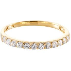 [ジェムクラウン] Gem Crown K10 YG スワロフスキー キュービックジルコニア ハーフエタニティリング 国内宝飾職人製作 [保証書付] 10金 イエローゴールド SWAROVSKI 指輪 13号