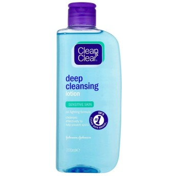 Clean & Clear Deep Cleansing Lotion - Sensitive (200ml) クリーンで明確なディープクレンジングローション - 感受性( 200ミリリットル) [並行輸入品]