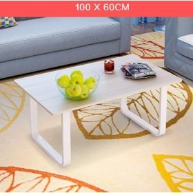 JJD モダンリビングローテーブルコーヒーテーブルシープルオフィスローテーブルスクエア100  60 c (Color : A)