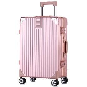 ユニセックススーツケース、レトロアルミフレームトロリーケース、360°ユニバーサルホイールTSA税関パスワードスーツケース、ABS + PC搭乗ケース-Ros